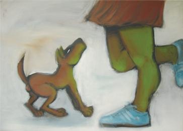 Der will nur spielen II l 140 x 100 cm l Acryl auf Leinwand I 2006