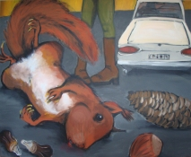 Eichhorns Tod l 160 x 160 cm l Acryl auf Leinwand I 2012