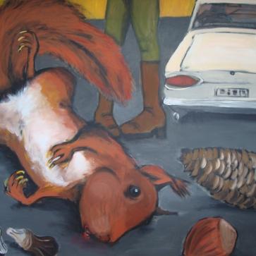 Eichhorns Tod l 190 x 160 cm l Acryl auf Leinwand I 2012