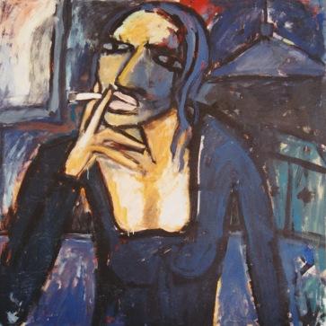 Porträt I l 160 x 150 cm l Acryl auf Leinwand I 1993