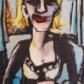 Porträt II l 110 x 150 cm l Acryl auf Leinwand I 1993