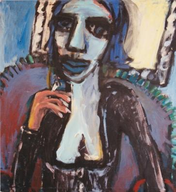 Porträt III l 120 x 130 cm l Acryl auf Leinwand I 1993