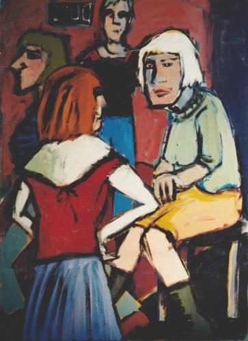 Gesellschaft II l 120 x 160 cm l Acryl auf Leinwand I 1992
