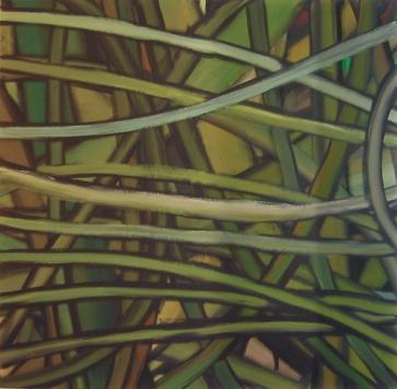 Grüngeflecht l 160 x 160 cm l Acryl auf Leinwand I 2003