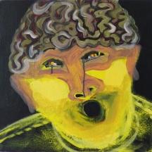 Hirni / 40 x 40 cm / Acryl auf Leinwand / 2017