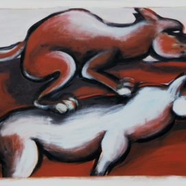 Hoppe Hoppe Reiter l 200 x 130 cm l Acryl auf Leinwand I 2001