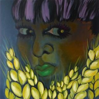 Korn / 150 x 150 cm / Acryl auf Leinwand / 2017