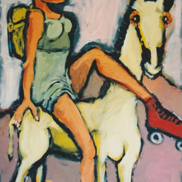 Roler Girl 120 x 180 cm l Acryl auf Leinwand I 1995