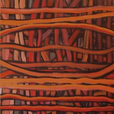Rotgeflecht l 160 x 160 cm l Acryl auf Leinwand I 2003