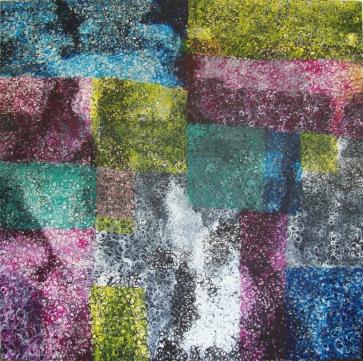 Schlingen, Schlaufen, Schleifen IV l 200 x 200 cm l Acryl auf Leinwand I 2013