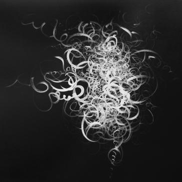 Schlingen, Schlaufen, Schleifen III l 100 x 80 cm l Acryl auf Leinwand I 2012