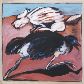 Vorwärts l 180 x 180 cm l Acryl auf Leinwand I 2001