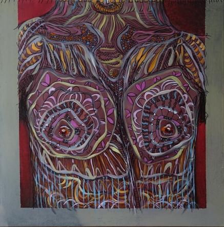 toyboy I 100 x 100 cm I Acryl & Edding auf Leinwand I 2018