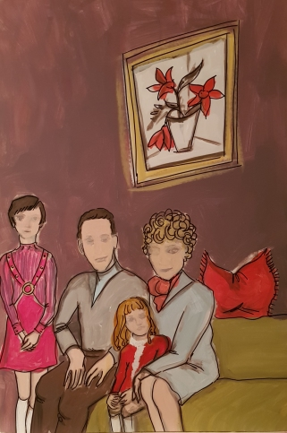 Family in the sixties I 70 x 100 cm I Acryl auf Karton I 2019
