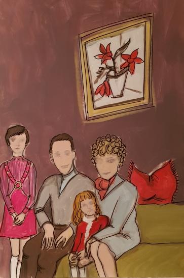 Family in the sixties I 70 x 100 cm I Acryl auf Karton I 2019