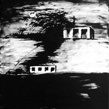 o.T. I 40 x 50 cm I Acryl und Tusche auf Leinwand I 2013