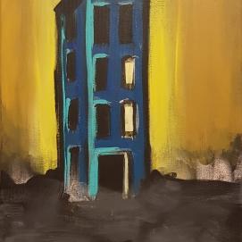 ghost house I 40 x 60 cm I Acryl auf Leinwand I 2021
