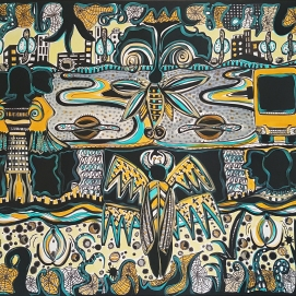 wild carpet l 190 x 130 cm l Edding & Acryl auf Leinwand I 2021