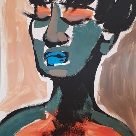 Eyes Wide Shut 3 I 100 x 70 cm I Acrylfarbe auf Karton I 2021
