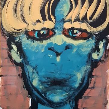 Being Blond I 43,4 x 63,5 cm I Acrylfarbe auf Karton I 2021