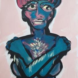 Being Blue I 50 x 65 cm IAcrylfarbe auf Papier I 2021
