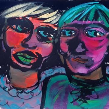 Being Two I 50 x 65 cm I Acrylfarbe auf Papier I 2021