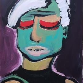 Eyes Wide Shut 4 I 64 x 88 cm I Acrylfarbe auf Karton I 2021